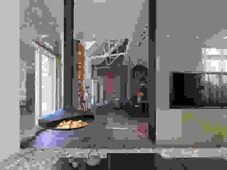 Loft ESN Modern living room by Ippolito Fleitz Group – Identity Architects Modern