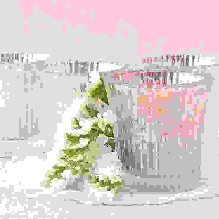Vaso para vela cristal antiguo de Beautifulbluebrides.com Rústico
