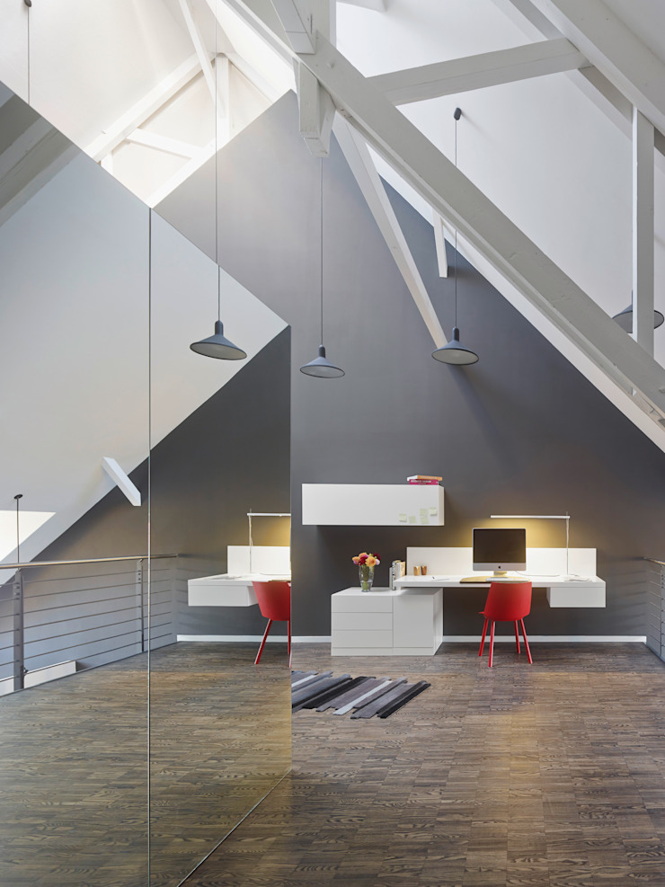 Loft ESN Ippolito Fleitz Group – Identity Architects Modern Study Room and Home Office