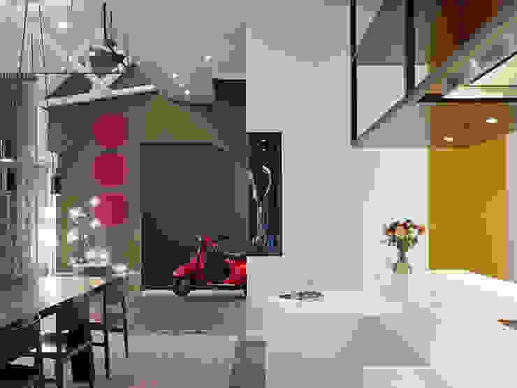 Loft ESN Ippolito Fleitz Group – Identity Architects Modern Living Room