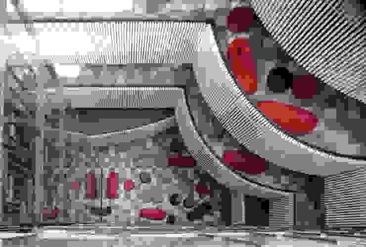 Universidad Diego Portales Santiago Chile Pasillos, vestíbulos y escaleras de Vondom