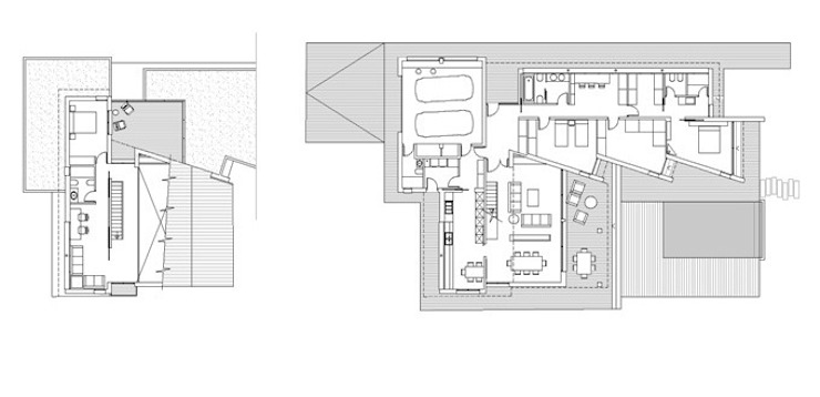 Ground and first floor plan by FG ARQUITECTES Modern