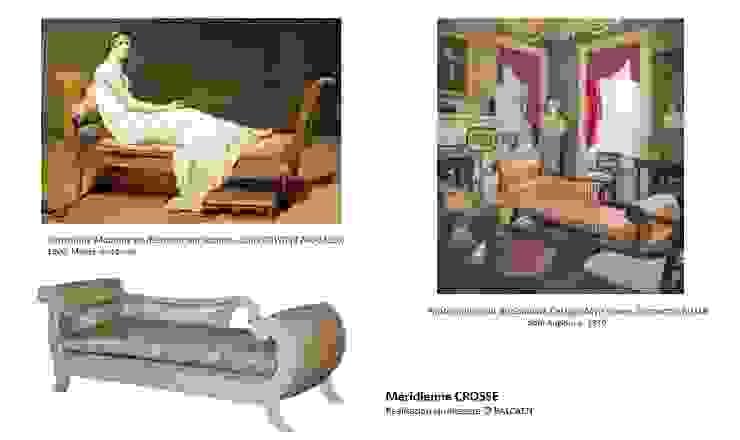 La méridienne CROSSE par BALCAEN Mobilier de style, Paris Classique