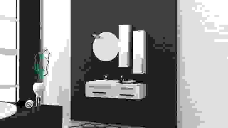 MAESTA BATHROOM FURNITURE – lucido - Maesta Bathrooms: modern tarz , Modern