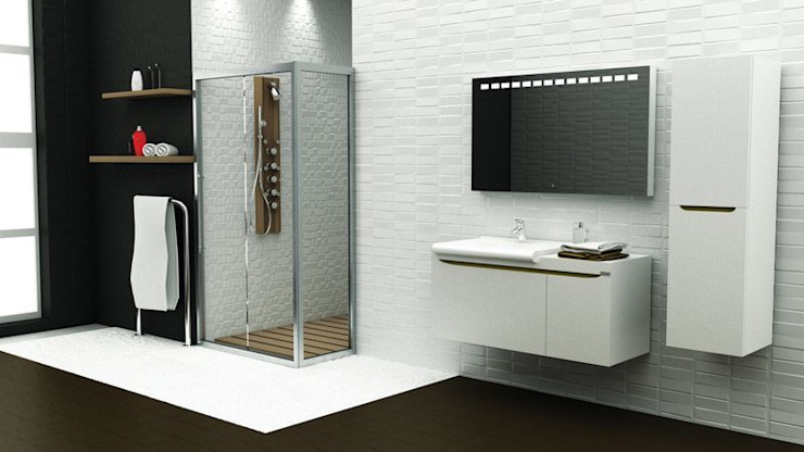 MAESTA BATHROOM FURNITURE – ARCO - MAESTA BATHROOMS:  tarz Banyo