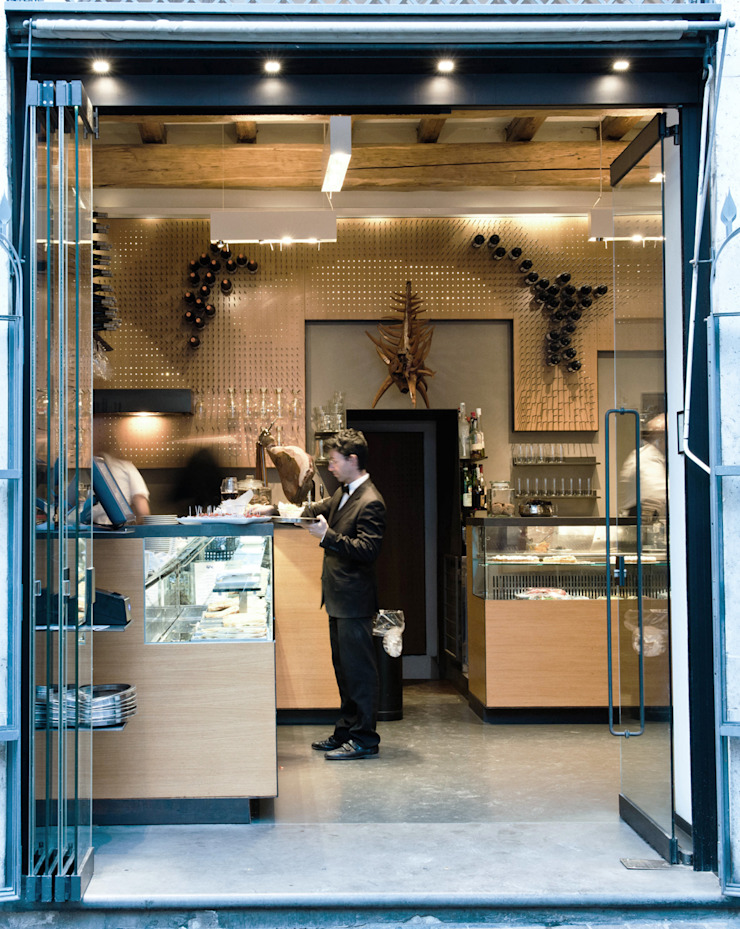 Bar Teichner ingresso:  in stile industriale di Anomia Studio, Industrial