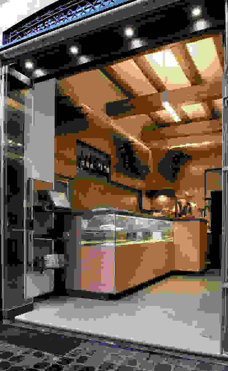 Bar Teichner ingresso B Negozi & Locali commerciali in stile industrial di Anomia Studio Industrial