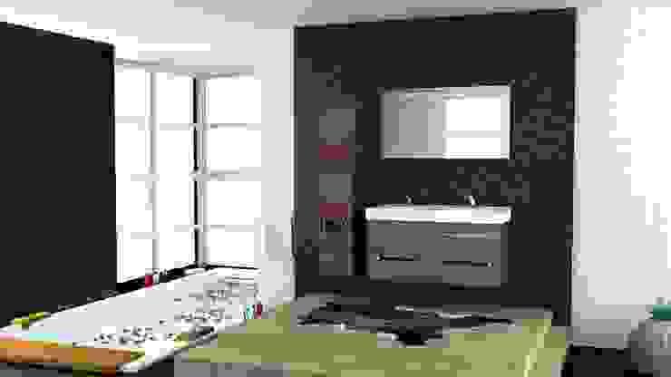 MAESTA BATHROOM FURNITURE – GOFRATO - MAESTA BATHROOMS: modern tarz , Modern