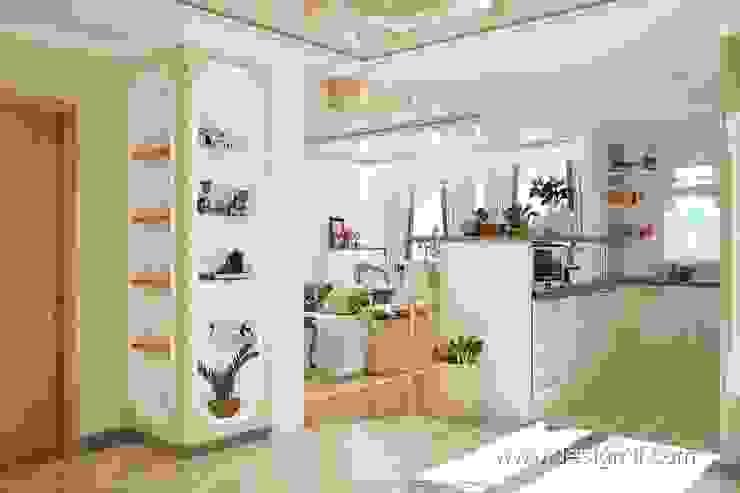 Холл Коридор, прихожая, лестницы от студия Design3F