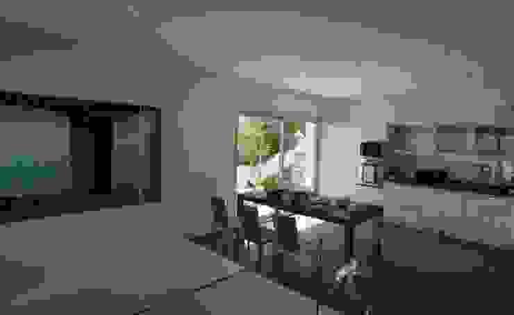 Casa Geniol - Punta de la Mona Cocinas de estilo moderno de SH asociados - arquitectura y diseño Moderno