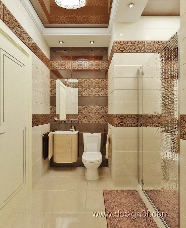Ванная Ванная комната от студия Design3F