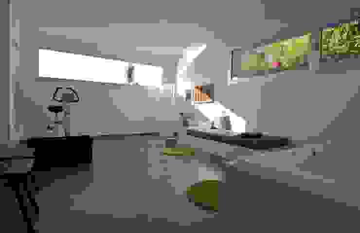 Gimnasio - spa del semisótano Gimnasios domésticos de estilo moderno de SH asociados - arquitectura y diseño Moderno