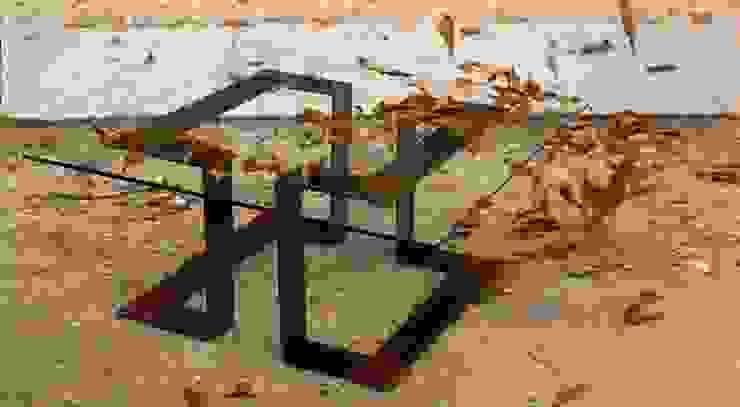 Mesa con patas de hierro de MUEBLES DE LA GRANJA Rústico