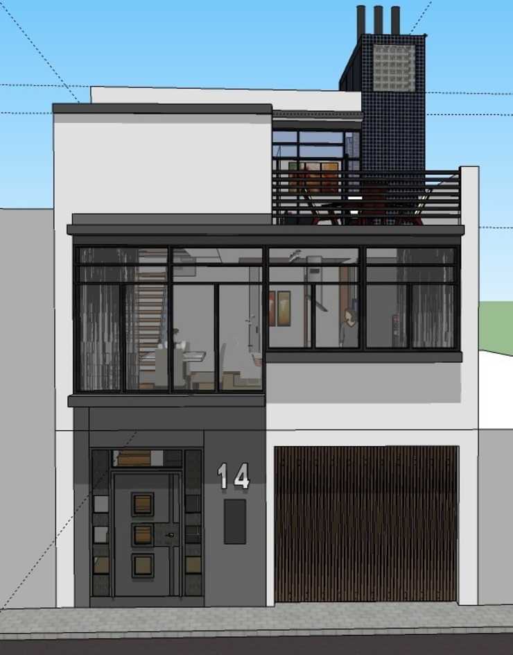 Alzado de la vivienda de ARQUISURLAURO S.L.P. Moderno