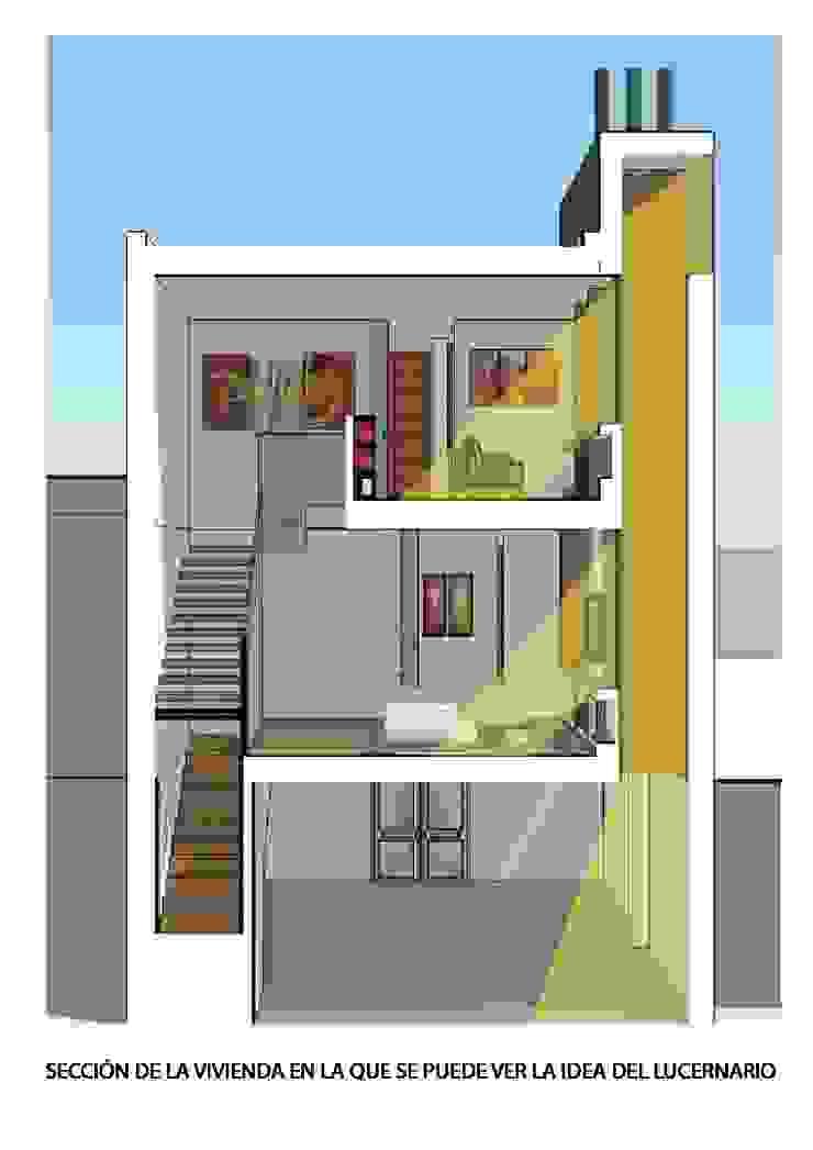 Sección de la vivienda por lucernario. de ARQUISURLAURO S.L.P. Moderno