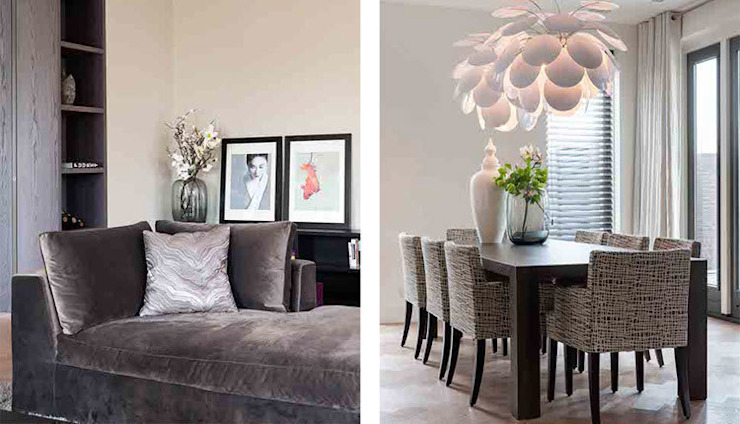 Familiehuis met positieve vibes choc studio interieur Moderne eetkamers