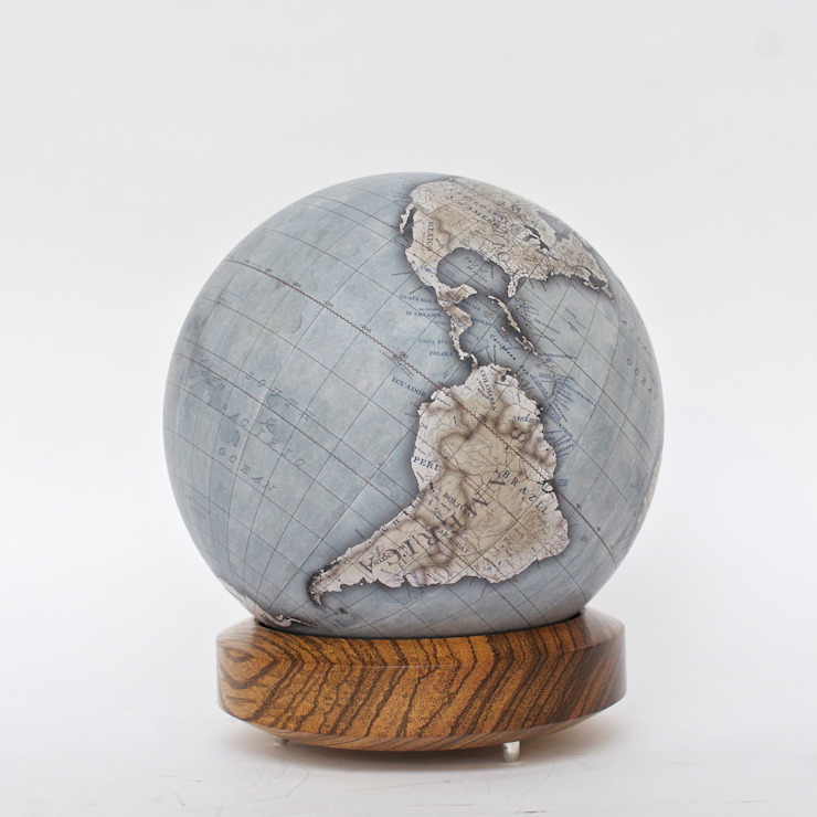 Zebrano Base: modern  by Bellerby and Co Globemakers, Modern