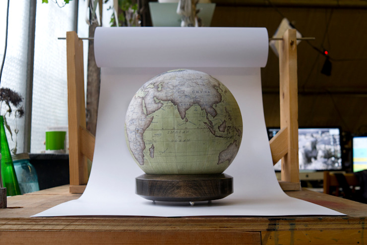 Pistachio Globe with London Plane Base: modern  by Bellerby and Co Globemakers, Modern