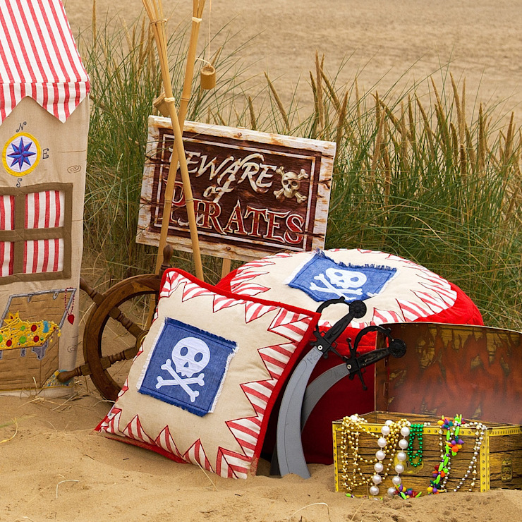 Pirate Shack Cushion Cover: colonial  by Cuckooland, Colonial