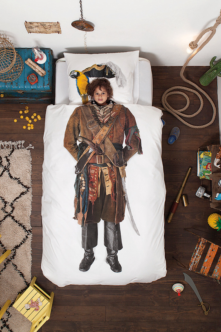 SNURK Children's Pirate Bedding Set: colonial  by Cuckooland, Colonial