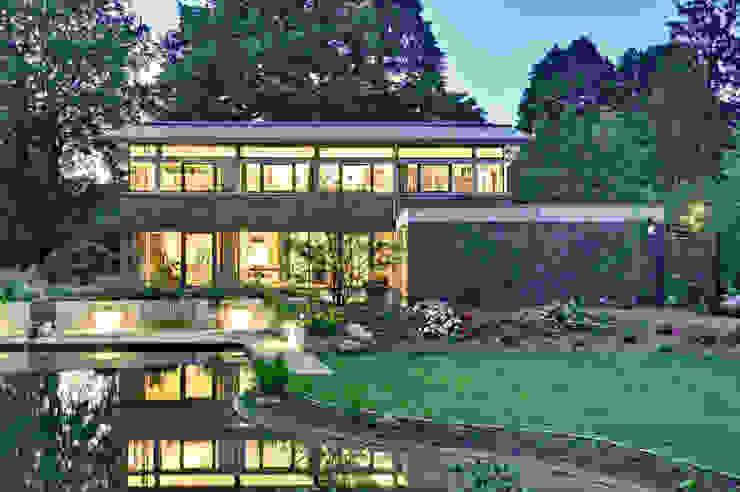 Einfamilienhaus mit schwebendem Dach und Veranda in Bremen Moderne Häuser von Möhring Architekten Modern