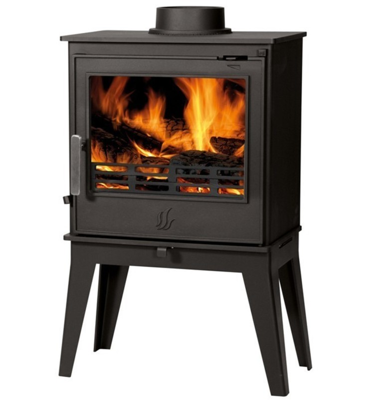 ACR Buxton High Legs DEFRA Approved Wood Burning / Multi Fuel Stove: modern  by Direct Stoves, Modern