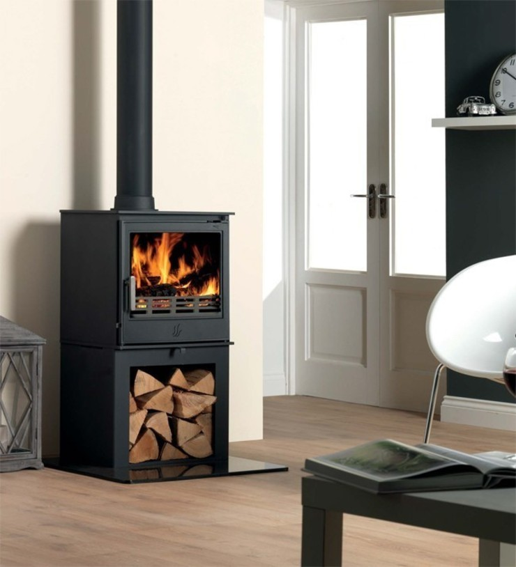 ACR Buxton DEFRA Approved Wood Burning / Multi Fuel Logstore Stove: modern  by Direct Stoves, Modern