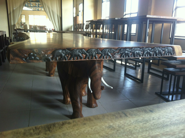 The Elephant Table de Mango Crafts Rústico
