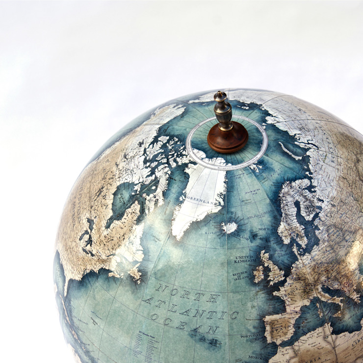 Bellerby & Co Prussian Blue Livingstone Globe: eclectic  by Bellerby and Co Globemakers, Eclectic