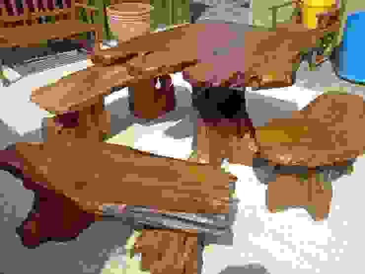 Teak Garden Furniture: rustic  by Mango Crafts, Rustic