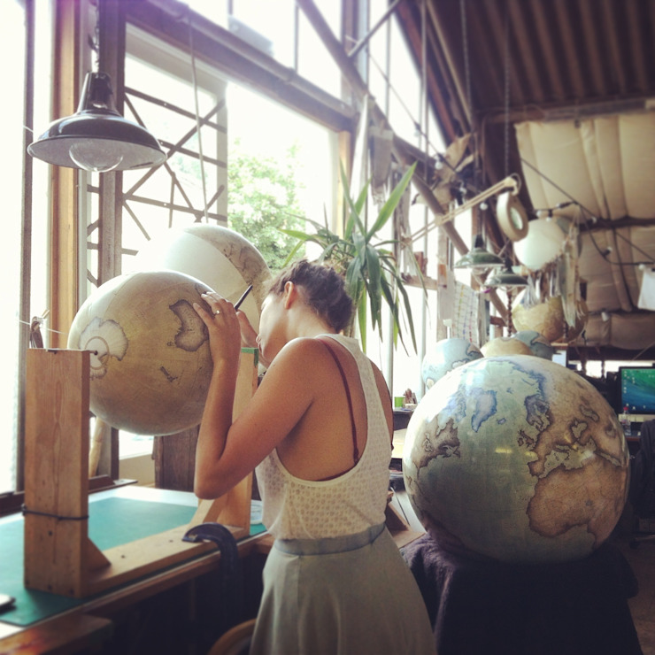 The Studio at Bellerby & Co Globemakers, London: modern  by Bellerby and Co Globemakers, Modern