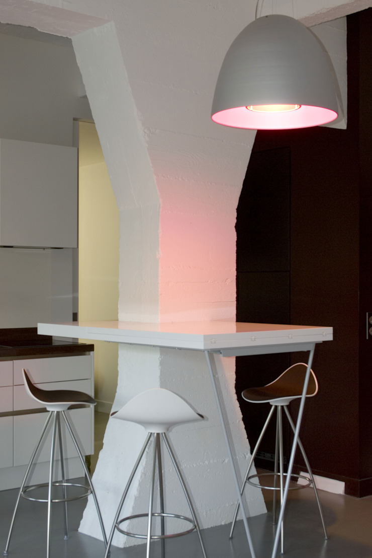 LOFT 19—PARIS XIX Minimalist dining room by Agence d'architecture Odile Veillon / ARCHI-V.O Minimalist