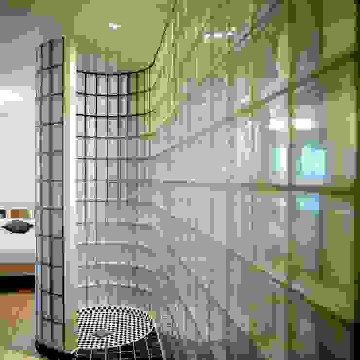 Transparante badkamer:  Badkamer door Ab Interieurarchitect,