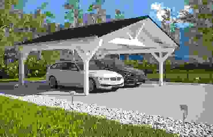 Easy Premium Spitzdachcarport: modern  von Solarterrassen & Carportwerk GmbH,Modern