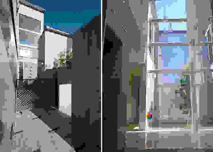 アプローチ・玄関 モダンな 家 の 家山真建築研究室 Makoto Ieyama Architect Office モダン
