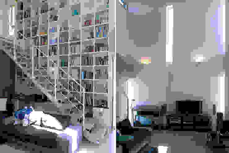 リビング モダンデザインの リビング の 家山真建築研究室 Makoto Ieyama Architect Office モダン