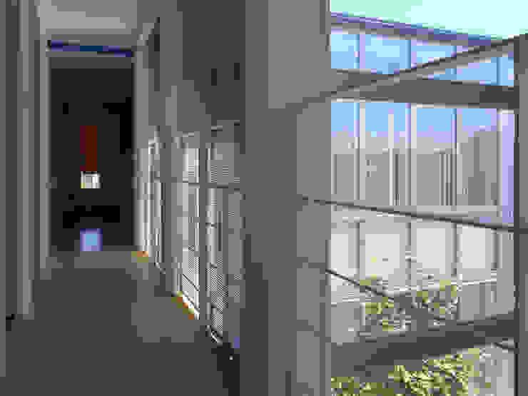 2階廊下 モダンスタイルの 玄関&廊下&階段 の 家山真建築研究室 Makoto Ieyama Architect Office モダン