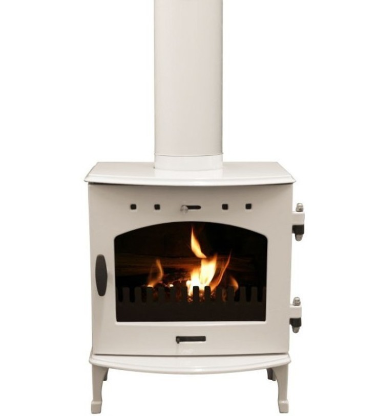 Carron Cream Enamel 4.7kW Multi Fuel DEFRA Approved Stove: modern  by Direct Stoves, Modern