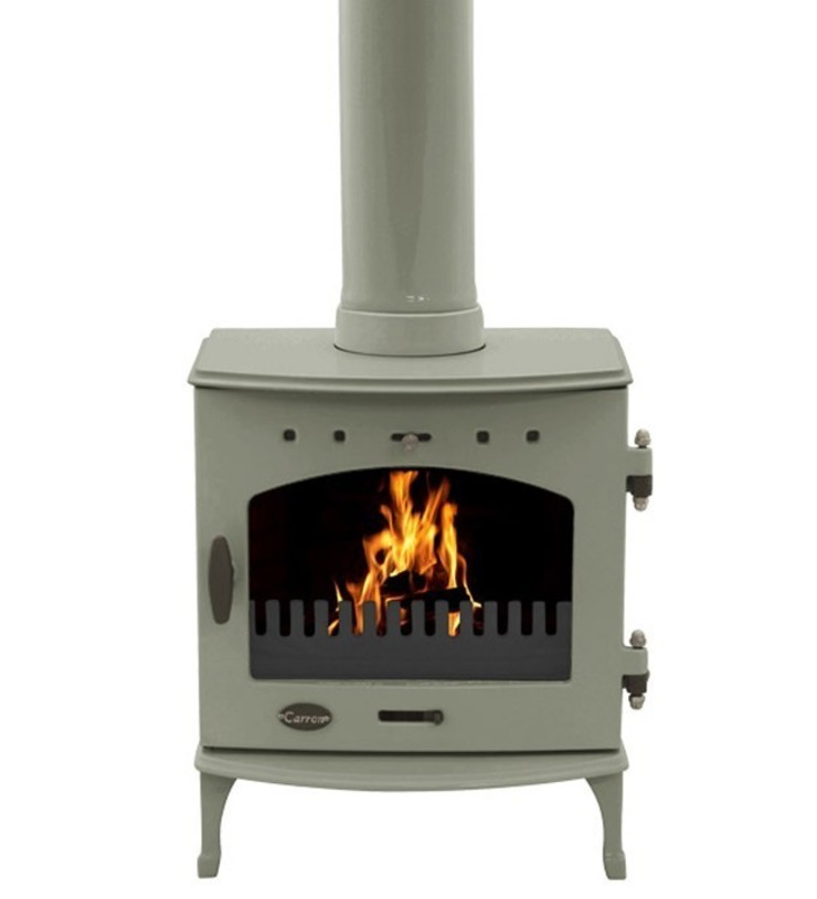 Carron Sage Green 4.7kW Multi Fuel DEFRA Approved Stove: modern  by Direct Stoves, Modern