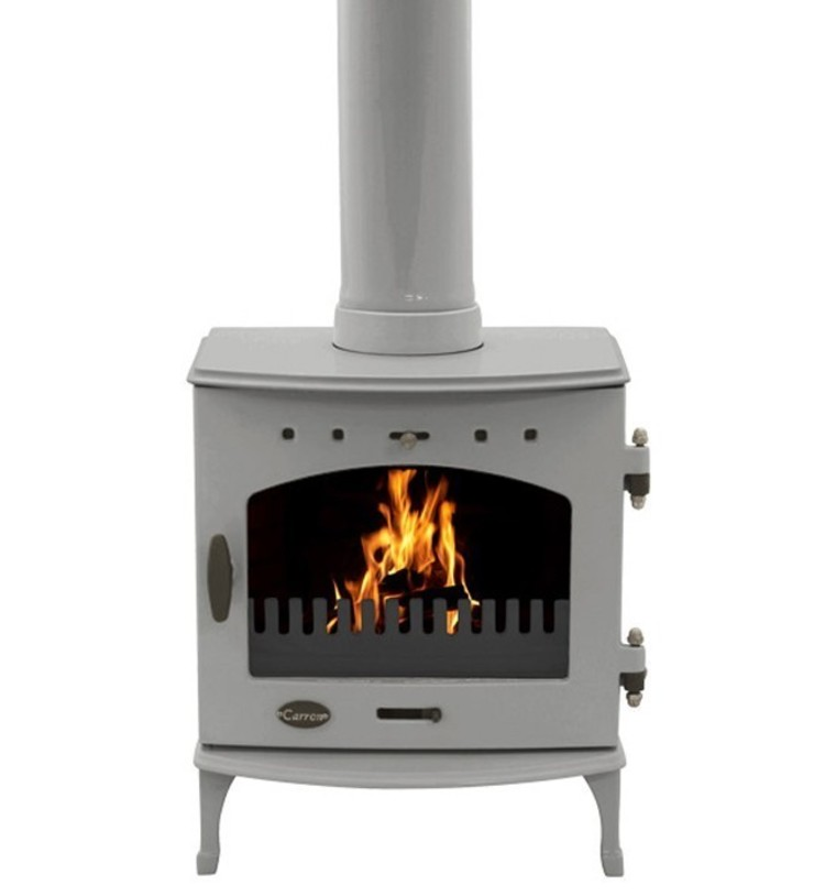 Carron Ash Grey Enamel 4.7kW Multi Fuel DEFRA Approved Stove: modern  by Direct Stoves, Modern