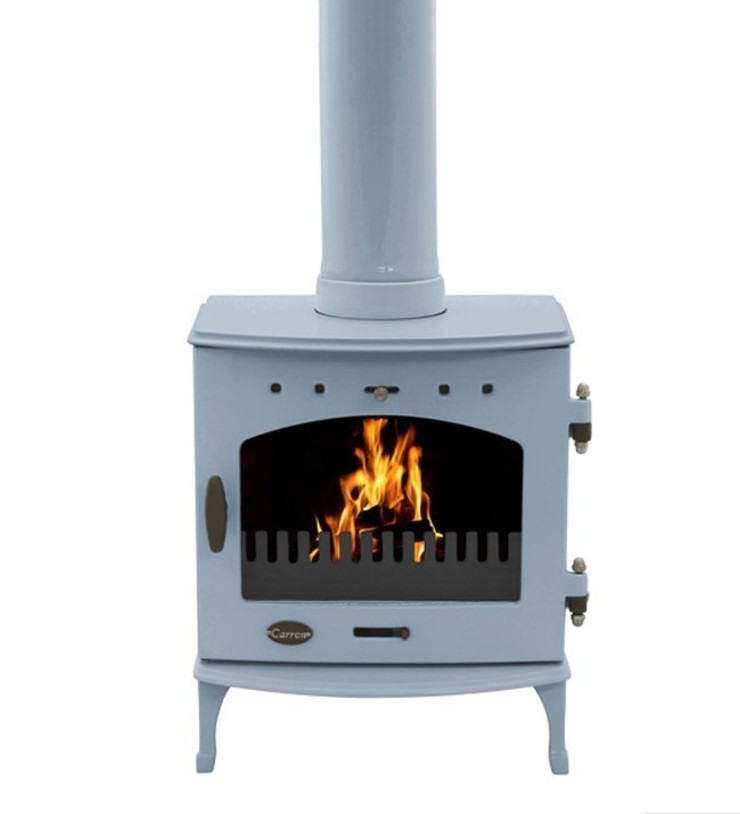 Carron China Blue Enamel 4.7kW Multi Fuel DEFRA Approved Stove: modern  by Direct Stoves, Modern