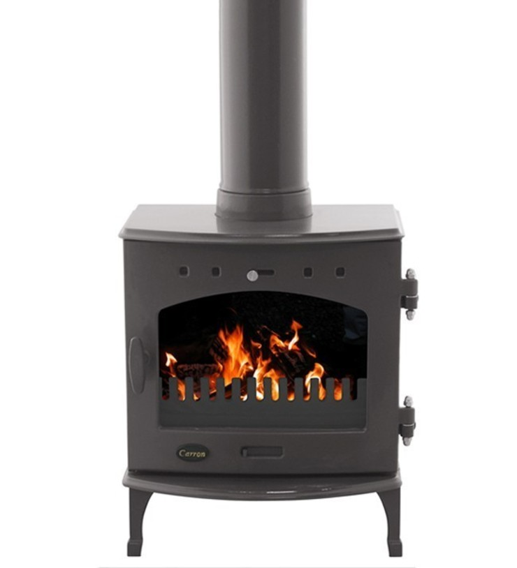 Carron Pebble Enamel 4.7kW Multi Fuel DEFRA Approved Stove: modern  by Direct Stoves, Modern