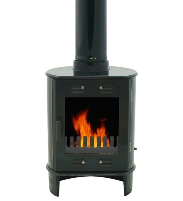 Carron Dante Green Enamel 5kW Multifuel DEFRA Approved Stove: modern  by Direct Stoves, Modern