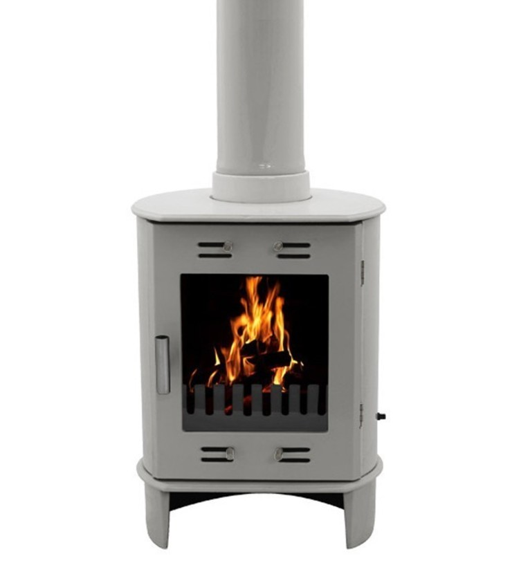 Carron Dante Ash Grey 5kW Multifuel DEFRA Approved Stove: modern  by Direct Stoves, Modern