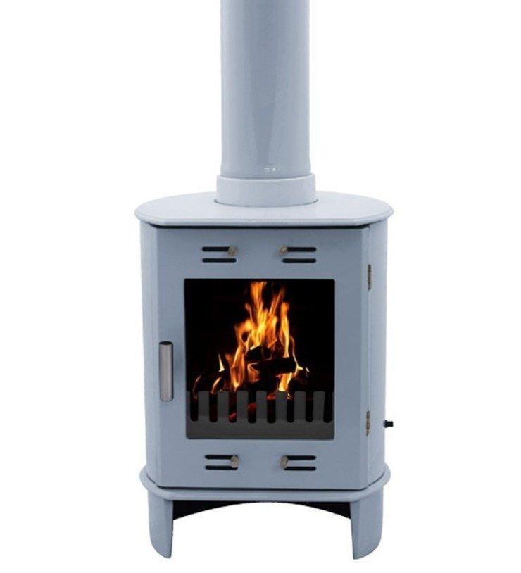 Carron Dante China Blue 5kW Multifuel DEFRA Approved Stove: modern  by Direct Stoves, Modern