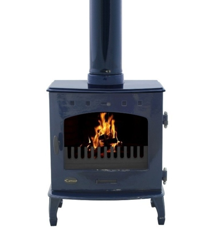 Carron Blue Enamel 7.3kW Multifuel DEFRA Approved Stove: modern  by Direct Stoves, Modern