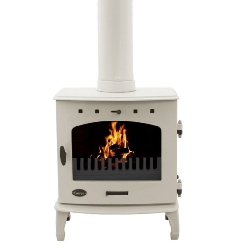 Carron Cream Enamel 7.3kW Multifuel DEFRA Approved Stove: modern  by Direct Stoves, Modern