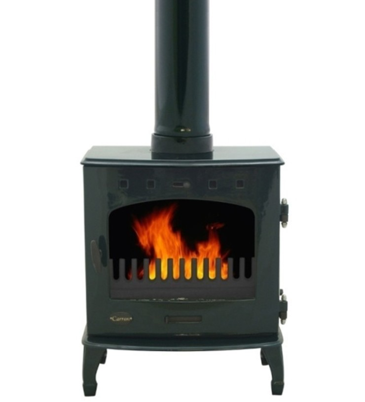 Carron Green Enamel 7.3kW Multifuel DEFRA Approved Stove: modern  by Direct Stoves, Modern