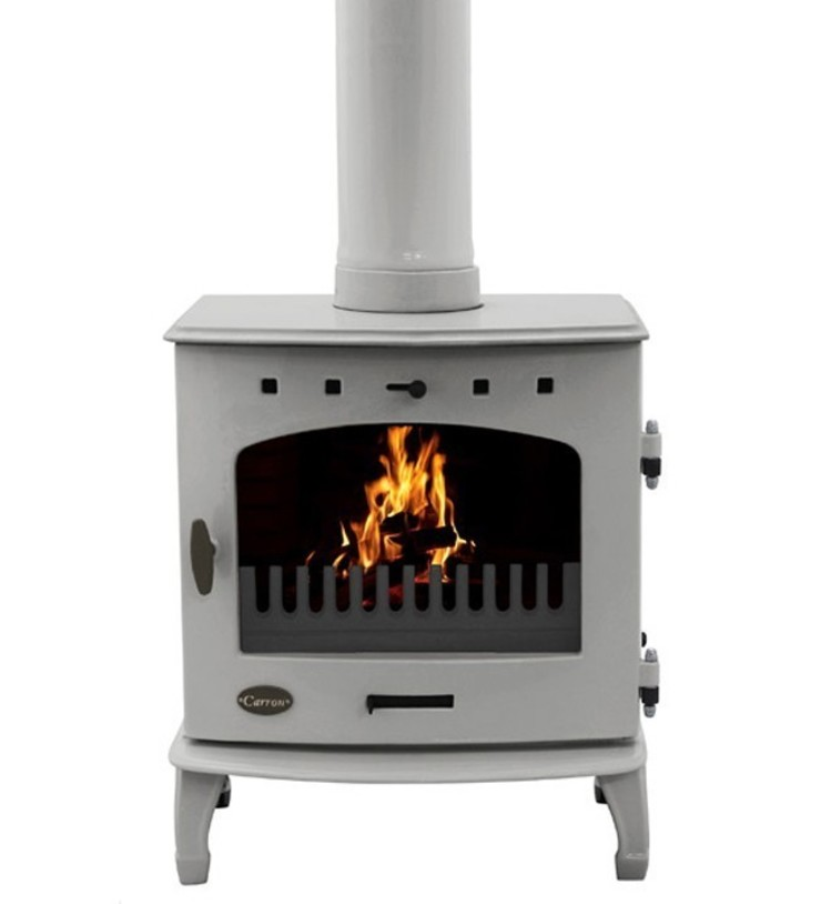 Carron Ash Grey Enamel 7.3kW Multifuel DEFRA Approved Stove: modern  by Direct Stoves, Modern