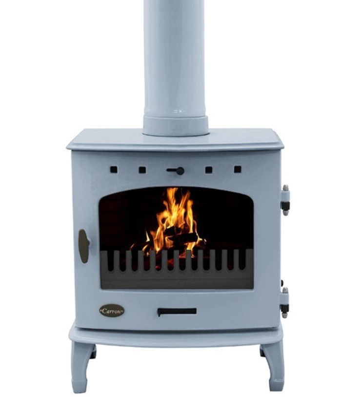 Carron China Blue Enamel 7.3kW Multifuel DEFRA Approved Stove: modern  by Direct Stoves, Modern